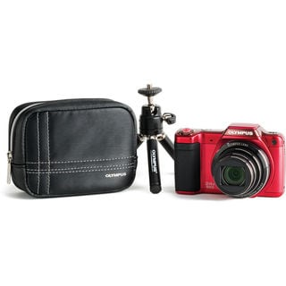 Olympus SZ-15 Red Digital Camera Bundle