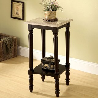Furniture of America Arboreta Classic Marble Square Top Side Table