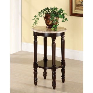 Furniture of America Bari Traditional Cherry Round Side Table