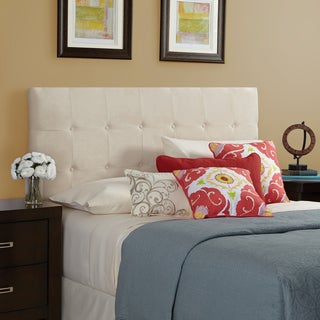 Humble + Haute Stratton Velvet Ivory Queen Tufted Upholstered Headboard