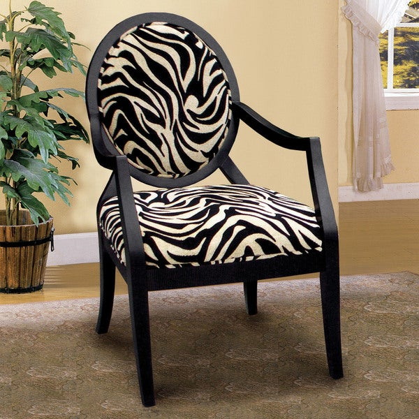 Furniture of America Sansa Zebra Print Accent Chair - Free Shipping Today - Overstock.com - 16385271
