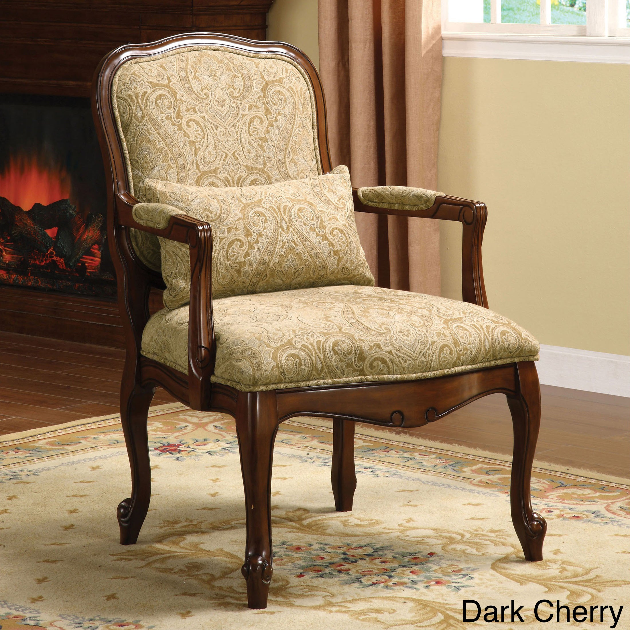 Furniture of America Barriston Padded Fabric Accent Chair Free