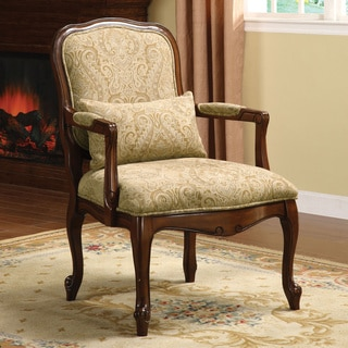 Link to Furniture of America Kage Traditional Fabric Upholstered Accent Chair Similar Items in Accent Chairs