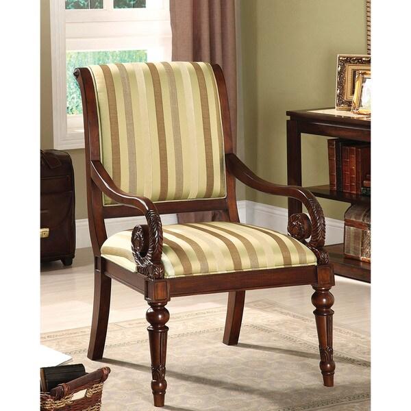 Shop Furniture Of America Arriston Striped Fabric Accent
