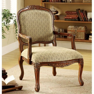 Link to Furniture of America Pees Traditional Beige Fabric Padded Accent Chair Similar Items in Accent Chairs