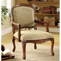 Furniture of America Errington Antique Oak Accent Chair