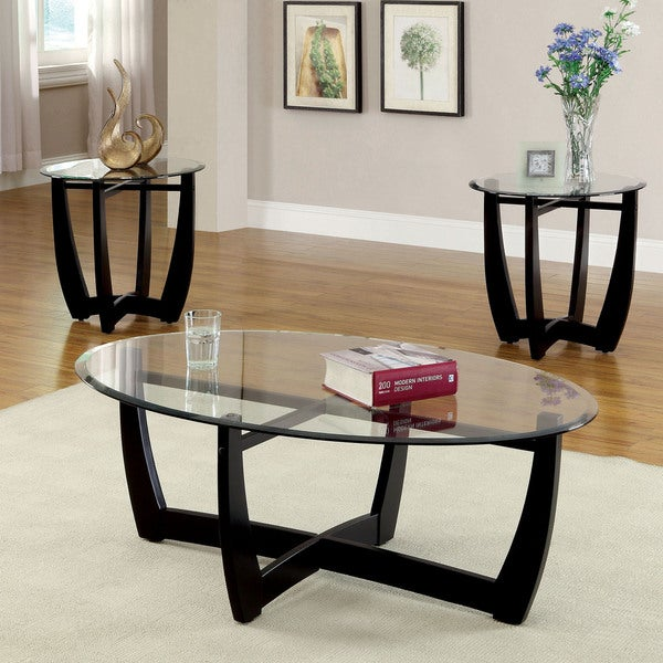 Oval Glass Coffee Table 3 Piece Set Furniture Home Decor: Clay Alder Home Four Bears Modern 3-piece Open Coffee And