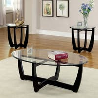 Clay Alder Home Four Bears Modern 3-piece Open Coffee and Side Table Set