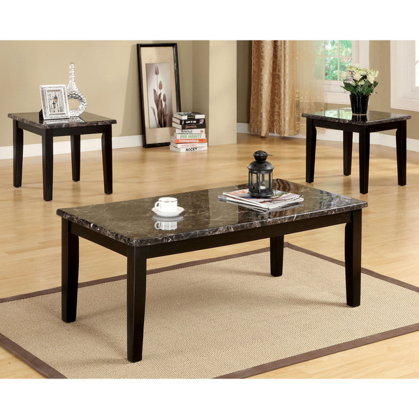 Faux White Marble Coffee Table Set: Shop Furniture Of America Dartford 3-Piece Faux Marble Top