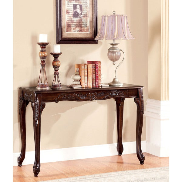 Furniture Of America Mariefey Clic Cherry Finish Sofa Table
