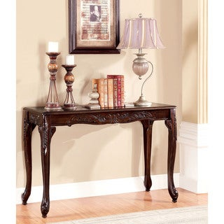 Furniture of America Mariefey Classic Cherry Finish Sofa Table