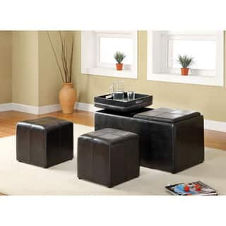 Furniture of America Carline 3-Piece Leatherette Nesting Ottoman Set|https://ak1.ostkcdn.com/images/products/9215824/P16385299.jpg?impolicy=medium