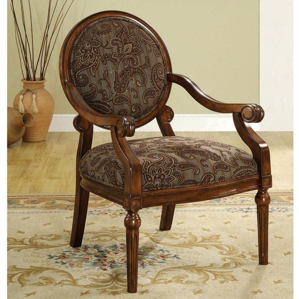 Furniture of america constance victorian style dark oak