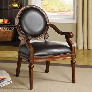 Furniture of America Rowena Leatherette Accent Chair