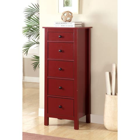 Furniture of America Wal Contemporary Solid Wood 5-drawer Storage Chest
