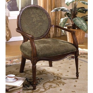 Furniture of America Lemington Dark Oak Accent Chair