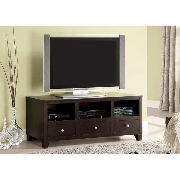 Furniture of America Pix Transitional 55-inch Espresso TV Console
