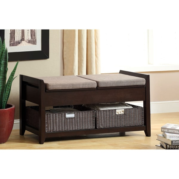 Shop Furniture Of America Basiten Modern Storage Bench With Under Seat  Storage   Free Shipping Today   Overstock   9215838