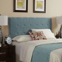 Humble + Haute Stratton Velvet Sky Blue Tufted Upholstered Headboard