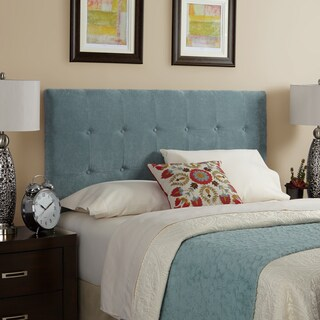 Humble + Haute Stratton Velvet Sky Blue Tufted Upholstered Headboard