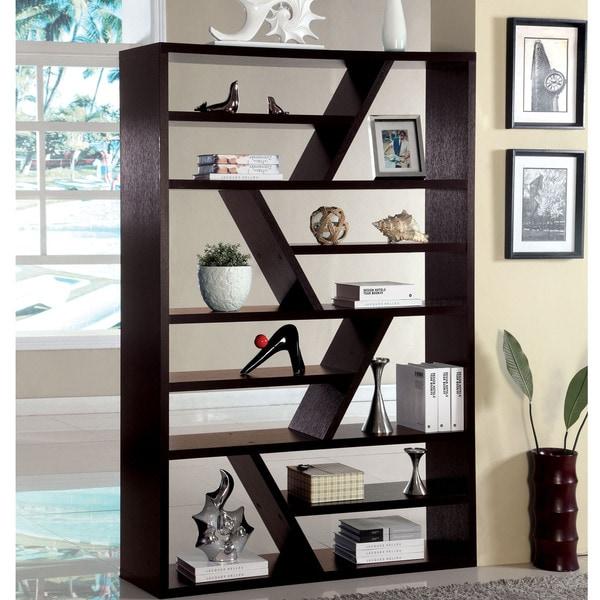 Furniture Of America Emize Espresso Open Display Shelf Free Shipping Today