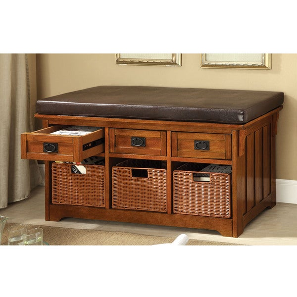 Ordinaire Furniture Of America Hodor 42 Inch 3 Drawer Storage Bench