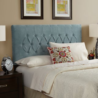 Humble + Haute Halifax Velvet Sky Blue Queen Diamond Tufted Upholstered Headboard