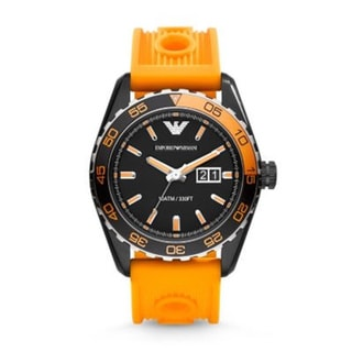 Link to Emporio Armani Men's AR6046 'Sportivo' Orange Silicone Watch Similar Items in Men's Watches