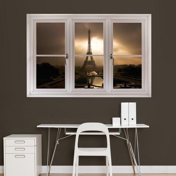Open Window At Dusk: Eiffel Tower Dusk' Instant Window