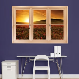 Poppy Field at Sunset - Tuscany' Instant Window