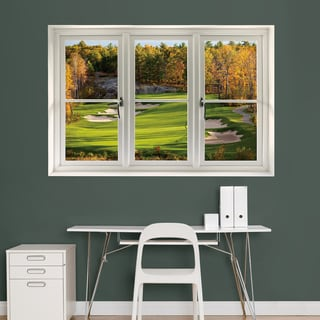 Fall Golf Scenic' Instant Window