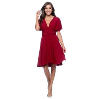 Women's Short Dress Convertible Wrap Cocktail Gown Multi Way Bridesmaid Dresses One Size Fits 0-12|https://ak1.ostkcdn.com/images/products/9215975/P16385392.jpg?impolicy=medium