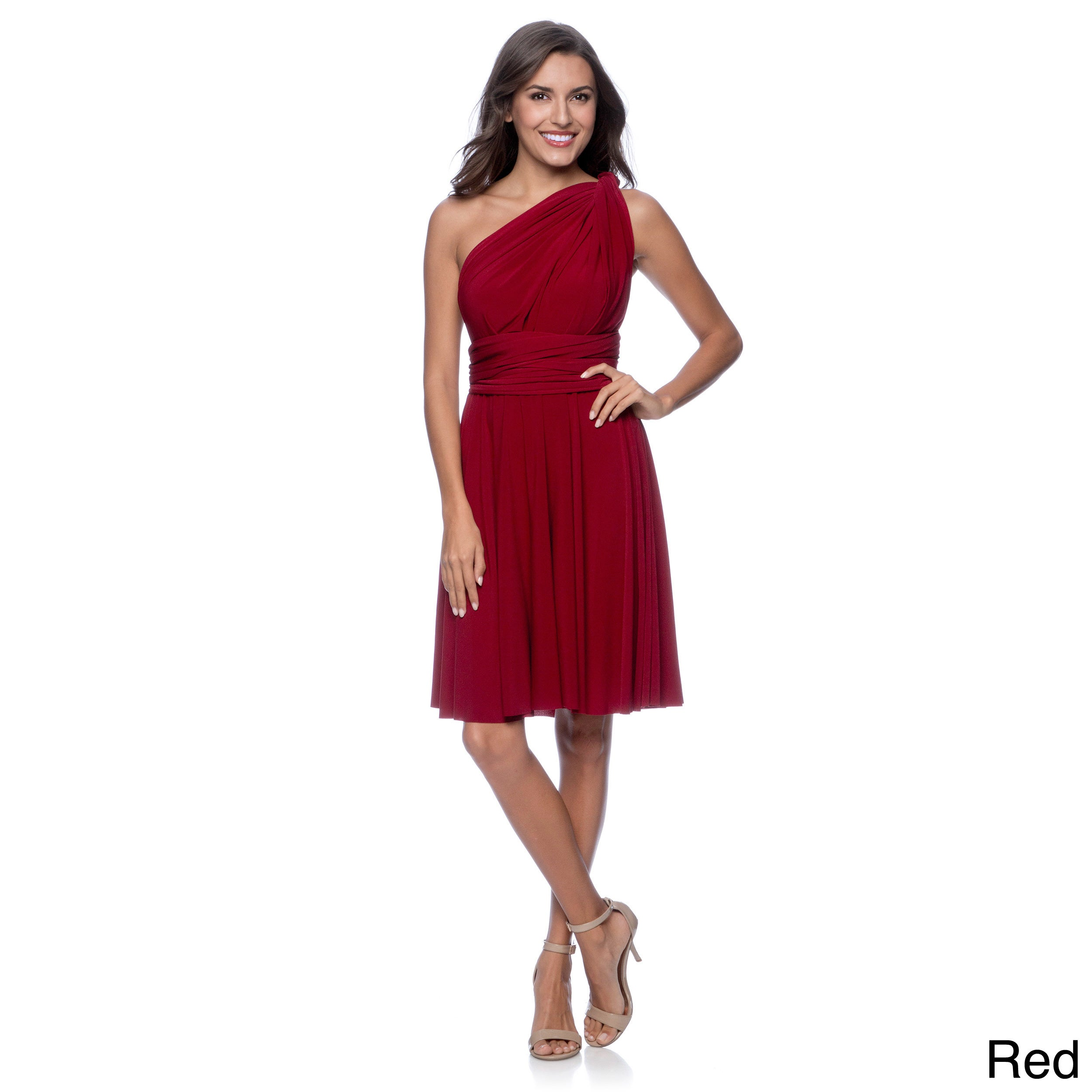 b1ab7a2b113d Shop Women's Short Dress Convertible Wrap Cocktail Gown Multi Way Bridesmaid  Dresses One Size Fits 0-12 - Free Shipping Today - Overstock - 9215975