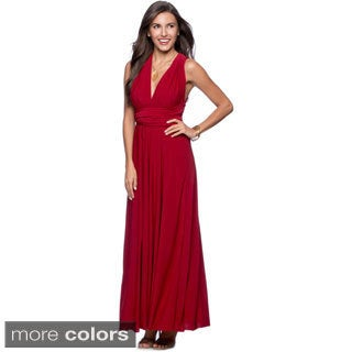 Women's Long Maxi Dress Convertible Wrap Cocktail Gown Bridesmaid Multi Way Dresses One Size Fits 0-12 (4 options available)
