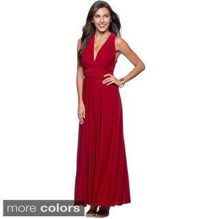 Women S Long Maxi Dress Convertible Wrap Tail Gown Bridesmaid Multi Way Dresses One Size Fits 0