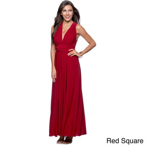 Women's Long Maxi Dress Convertible Wrap Cocktail Gown Bridesmaid Multi Way Dresses One Size Fits 0-12