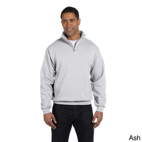 Men's Quarter-zip Cadet Collar Sweatshirt