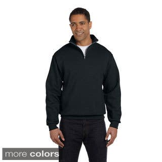 Men's Quarter-zip Cadet Collar Sweatshirt|https://ak1.ostkcdn.com/images/products/9216007/P16385419.jpg?impolicy=medium