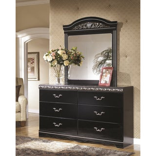 Signature Design by Ashley Constellations 2-piece Black Dresser and Mirror Set