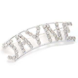 Detti Originals Silver 'JAYNE' Crystal Name Pin