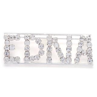 Detti Originals Silver 'EDNA' Crystal Name Pin