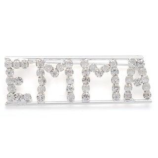 Detti Originals Silver 'EMMA' Crystal Name Pin