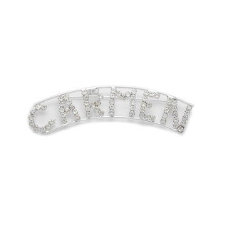 Detti Originals Silver 'CARMEN' Crystal Name Pin