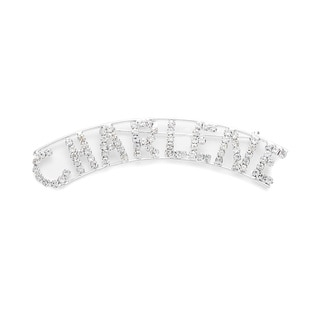 Detti Originals Silver 'CHARLENE' Crystal Name Pin