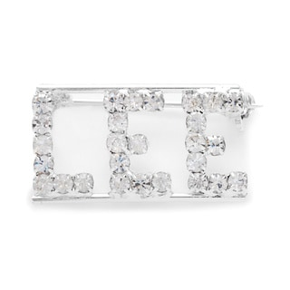 Detti Originals Silver 'LEE' Crystal Name Pin