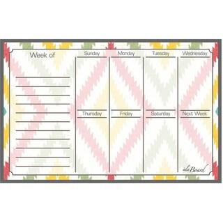 Aztec Dry Erase Weekly Calendar Magnetic Board