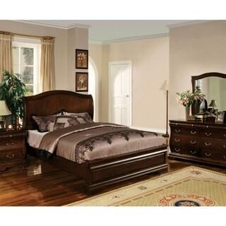 Furniture of America Zeak Transitional Walnut Solid Wood Platform Bed
