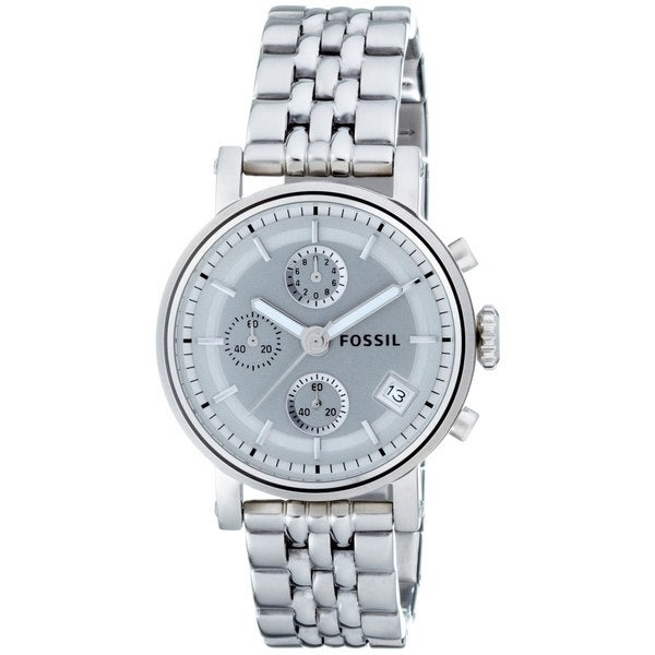Shop Fossil Women S Stainless Steel Bracelet Silver Analog Dial