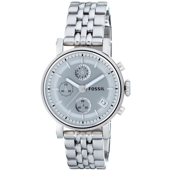 fossil s es2198 stainless steel bracelet silver