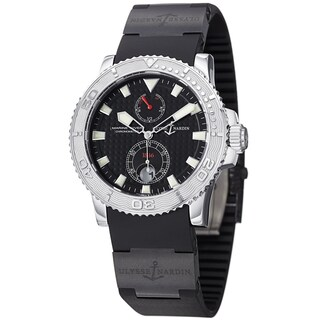 Ulysse Nardin Men's 263-33-3C/92 'Marine Diver' Black Dial Black Rubber Strap Watch